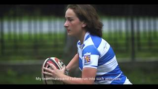 Rugby player Nino in support of HeForSHe