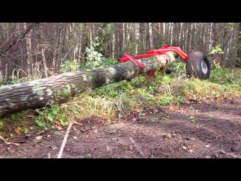 Atv-Expert Juontokärry (Log skidding long trees)