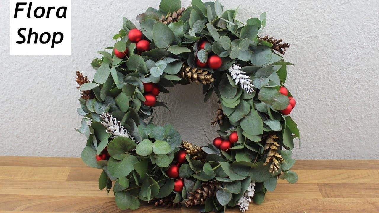 Weihnachtskranz Fur Die Eingangstur Christmas Decoration Diy