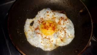 how to make dubble roasted Half Boiled Egg Omelette
