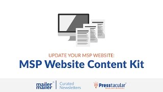 MSP Website Content Kit - Pre-written Web Pages Ready to Copy/Paste
