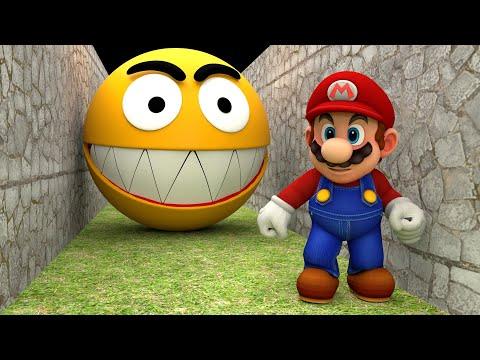 Pacman vs Super Mario Learn Colors Funny Pranks!