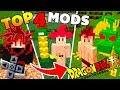 TOP 4 MELHORES MODS DRAGON BALL SUPER PARA MINECRAFT PE ! - (Minecraft Pocket Edition)
