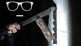 DIY Project: Wood Splitter Indoor // Slow Motion Welding