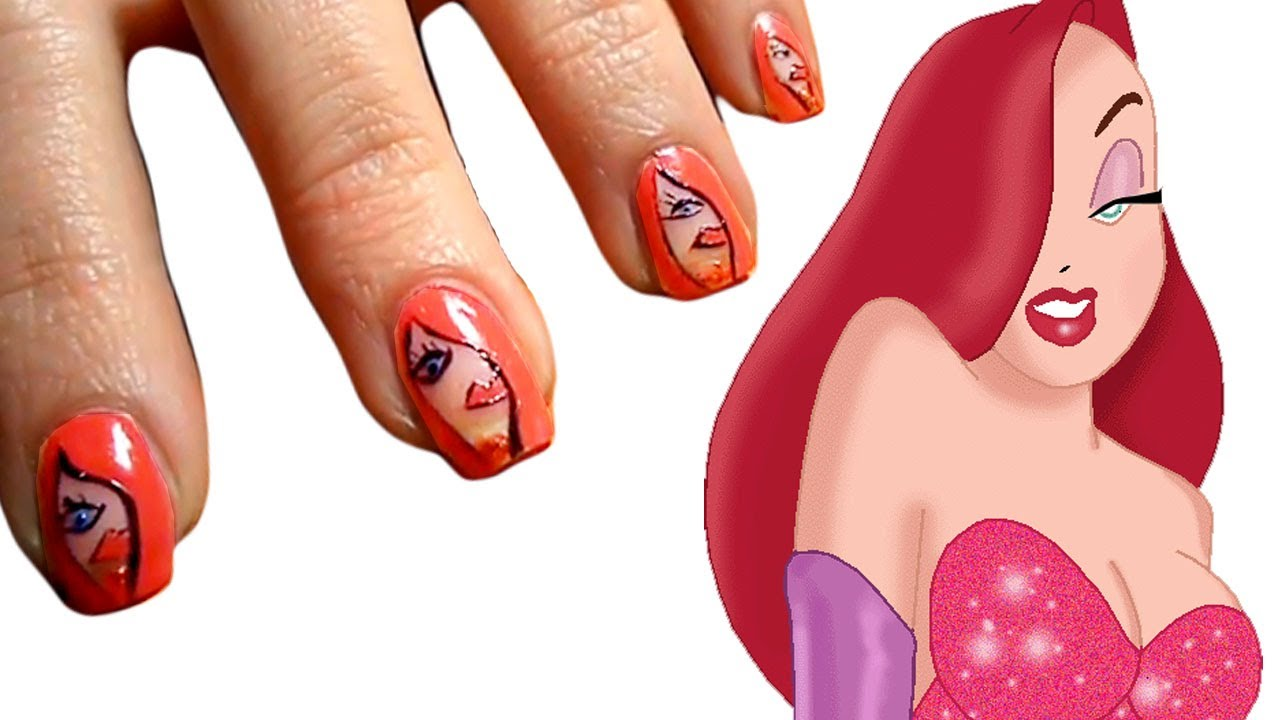 Jessica Rabbit Nail Art / Make up - collaborazione ...