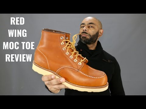 Red Wing 6 Inch Moc Toe Boot Unboxing And Review