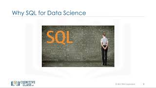 Why SQL?  - Databases and SQL for Data Science by IBM #1