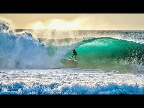 ALMOST BROKE MY LEG SURFING! (PIPELINE)
