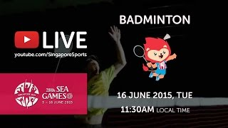 Badminton Mens Doubles Gold Medal Match | 28th SEA Games Singapore 2015
