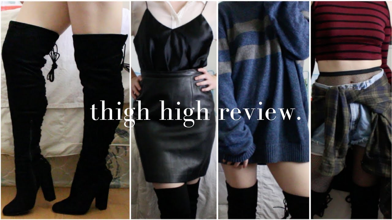 37eedd91f7c reviewing fashion nova thigh high boots + outfit inspo - YouTube