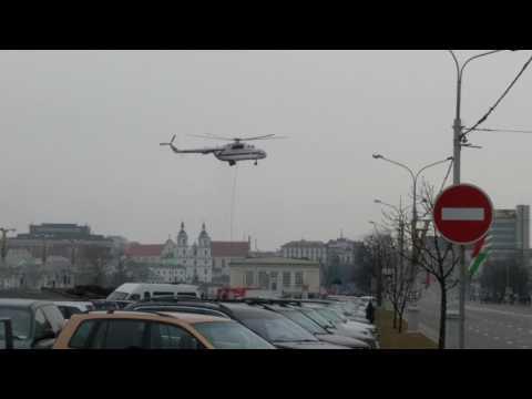 Учения МЧС в центре Минска 2