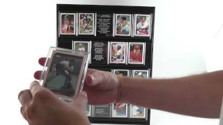Sports Trading Card Display Case For Wall