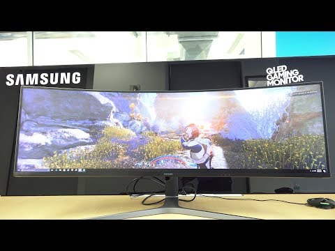 "Samsung 49"" CHG 90 UltraWide HDR QLED Gaming Monitor: Behemoth!"