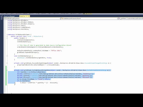 Unbound Columns | WinForms Controls | DevExpress Help