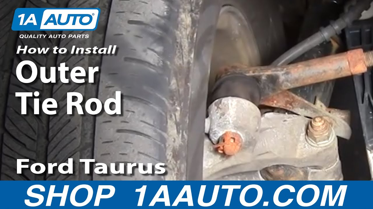 How To Install Replace Steering Outer Tie Rod End Ford Taurus 2005 Mercury Grand Marquis Engine Diagram Sable 96 06 1aautocom