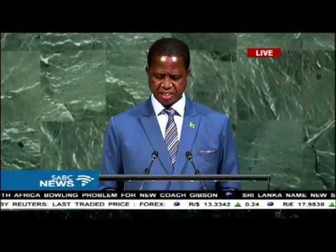 72nd UN General Assembly: Zambia's President, Edgar Lungu