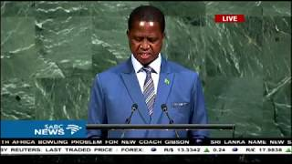 72nd UN General Assembly: Zambia's President, Edgar Lungu thumbnail