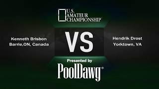 2018 US Amateur Championship - Kenneth Brisbon VS Hendrik Drost