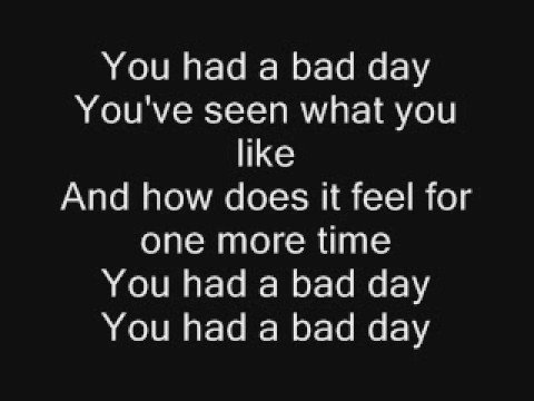 Daniel Powter-Bad Day Lyrics
