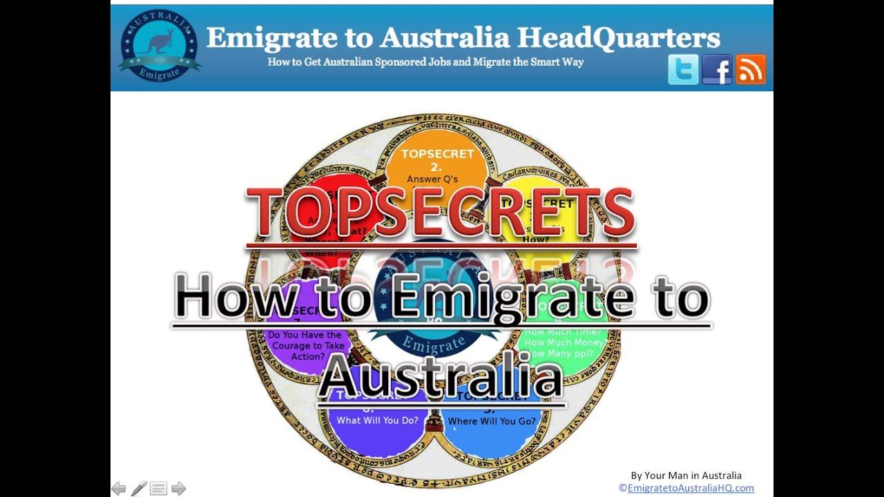 How to Immigrate to Australia TOPSECRET - YouTube