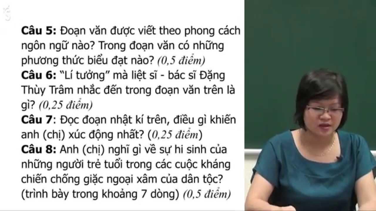 Đề thi thử THPT quốc gia Văn 2016 – Đề 2 – Cô Phạm Thị Thu Phương