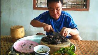 แก้มงัว หมักพริกไทยดำ ดำข้างนอก แต่ข้างในแซบครับผม..