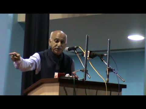 Inaugural Speech by Hon'ble Minister of State, MEA Sri M J Akbar:  Part 1