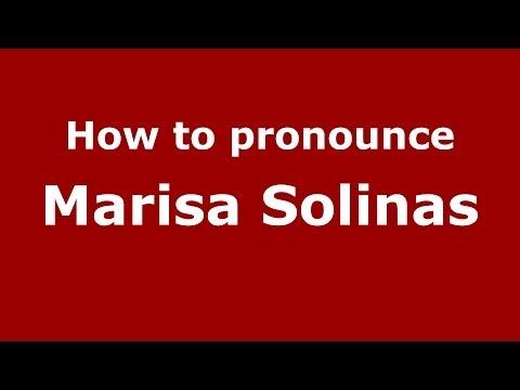 How to pronounce Marisa Solinas ItalianItaly   PronounceNames.com