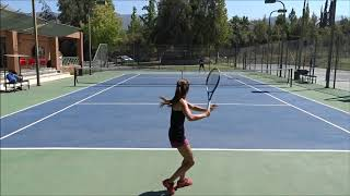 Michelle Los Arcos - College Tennis Recruiting Video