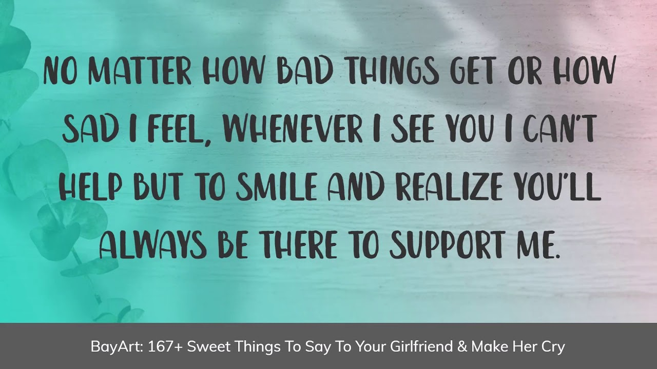 Things what girlfriend your cute say to to 101 Sweet