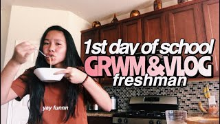 first day of school grwm and vlog (freshman)