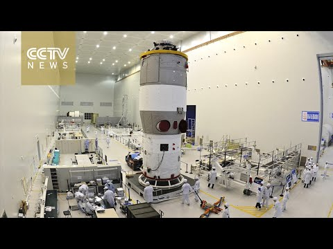 China's space lab Tiangong-2 being transferred to launch pad