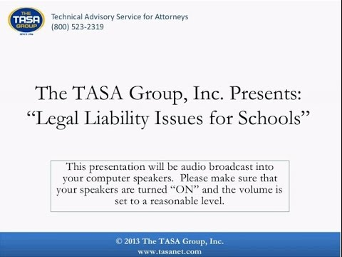 Five Legal Liability Issues for Schools