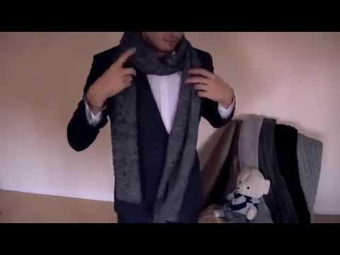 Hướng dẫn cách quàng khăn len cho nam
