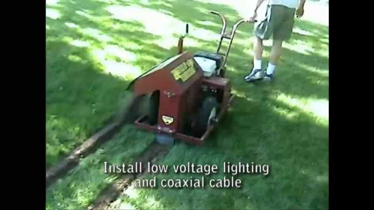 Fiber Optic Cable Micro Trenching Youtube