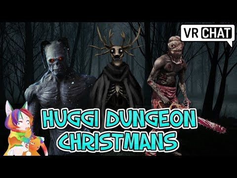 [VRChat] Huggi Dungeon Christmas Horror Map!