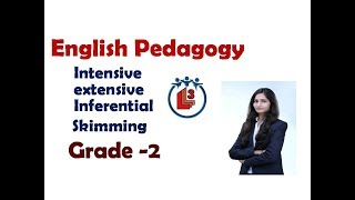 English pedagogy for grade 2 / ctet / intensive / extensive/ inferential / skimming