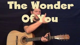 The Wonder of You (Elvis Presley) Easy Guitar Lesson How to Play Tutorial Strum Chords