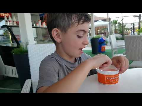 Candy Kid Canada: Papafilipou Ice Cream at Fig Tree Beach (Cyprus Travel Vlog)