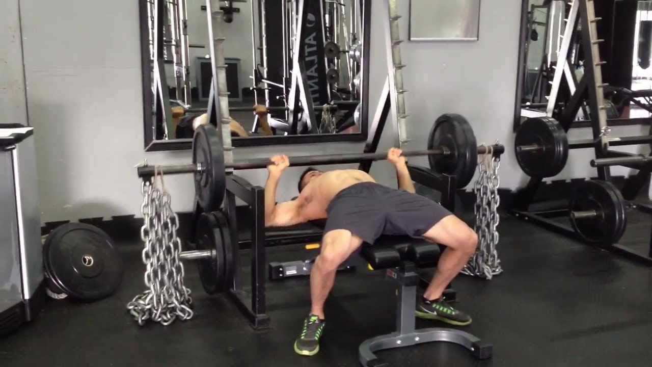 Barbell Bench Press With Chains Youtube