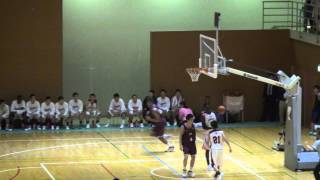 【高校バスケ】明成高校 八村塁選手のダンク 2発
