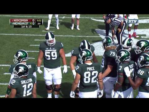 College Football ''Wisconsin At Michigan State'' Recorded Sep 24, 2016, BIGMNHD