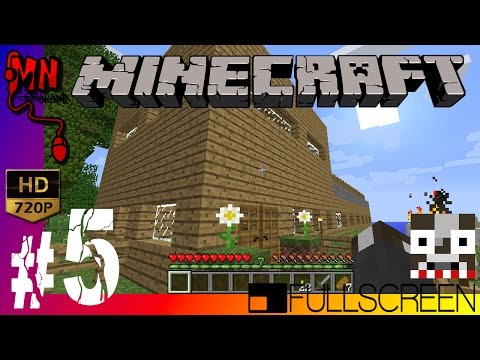 Minecraft (1.8.1) #5 - สร้างบ้านกันเถอะ! [HD]