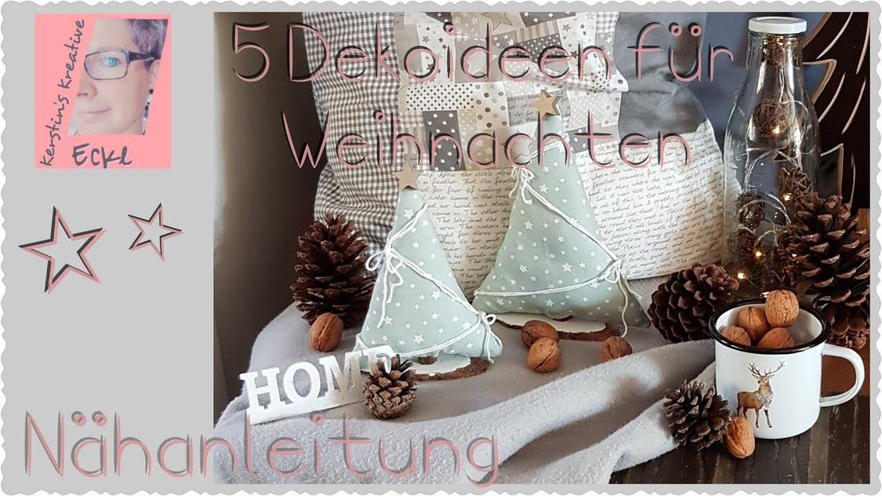 Imke Riedebusch Weihnachtsdeko.5 Weihnachts Diys Nähanleitung Tannenbäume Stiefel Weihnachtsdeko Basteln Adventskranz