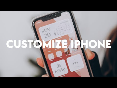 HOW TO CUSTOMIZE YOUR IPHONE WITH IOS 14! (minimal iphone organization)