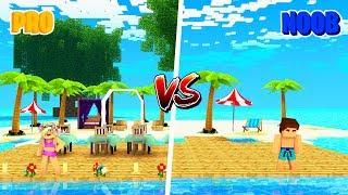 Minecraft NOOB VS PRO : BEACH in Minecraft!