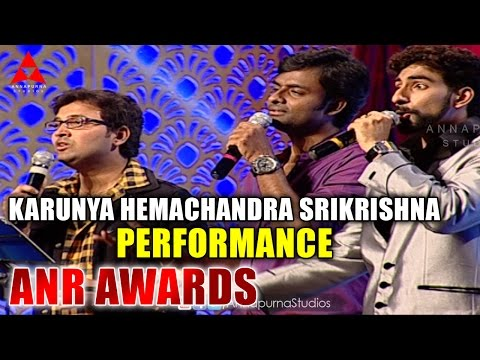 Karunya,Hemachandra,Sri Krishna Live Performance at ANR Awards
