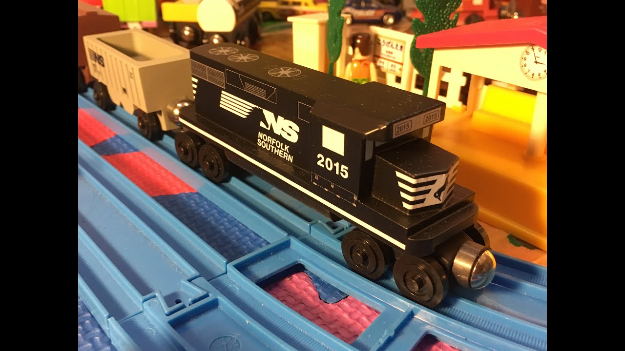 Whittle Shortline Norfolk Southern Wooden Train In Motion