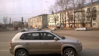 Город Киров из окна троллейбуса 4 троллейбусный маршрут 15 апреля 2015 года Улица Профсоюзная завод