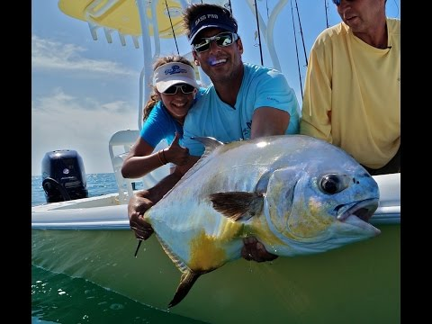 10 Year old catches giant Permit and nice snook with Peter Miller